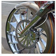 34 INCH METALSPORT BAGGER WHEELS