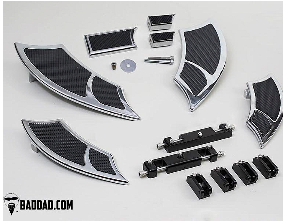 BAD DAD HARLEY Floorboard Kit: 992 Boards with Passenger Boards