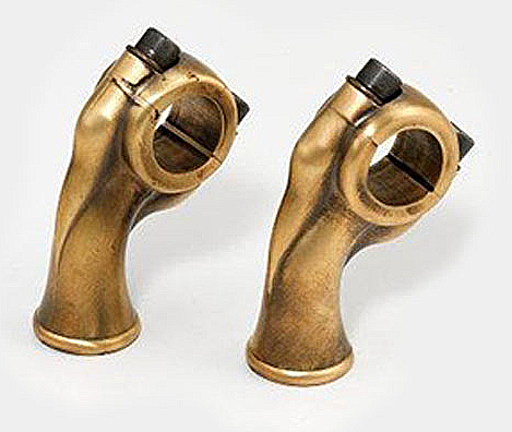 BRASS HARLEY 1 INCH MOTORCYCLE RISERS RAW