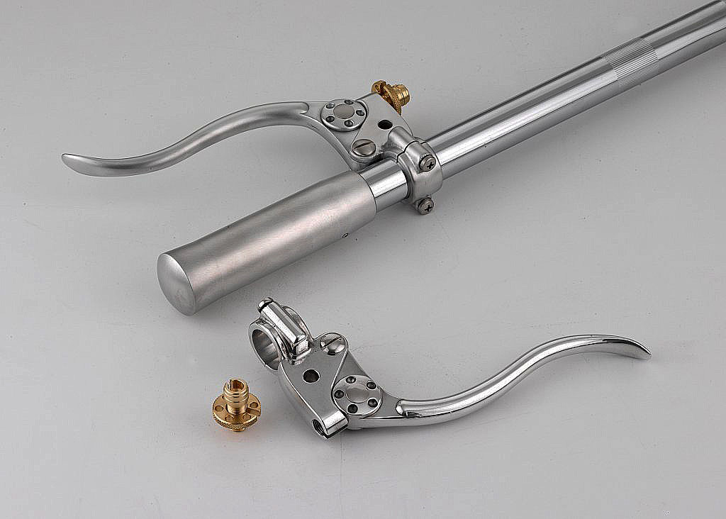 CABLE CONTROLLED LEVERS CLUTCH & BRAKE/ POLISHED BILLET