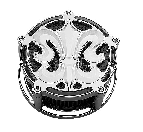 Air Cleaner for Harley Davidson: FLUER CHROME