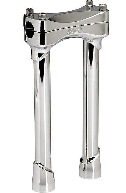 CHROME 10 INCH TALL MOTORCYCLE RISERS