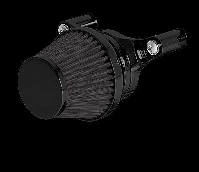 Motorcycle Harley Air Cleaner  Minimax, Internal Breather Bracket, Black Finish, Black Filter