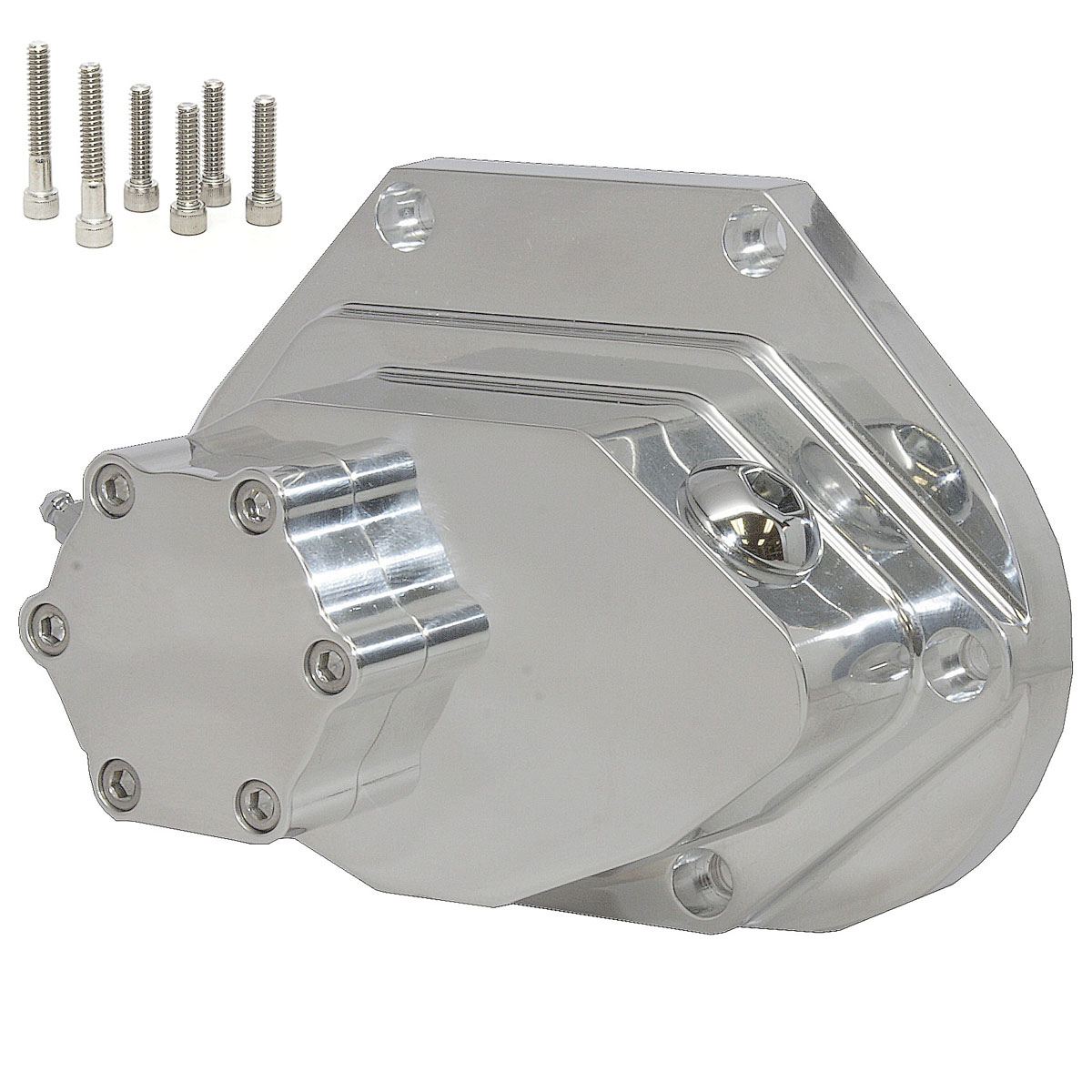 "Harley 5 or 6 speed CFL ""ART"" Style Chrome Hydraulic Clutch Cover"