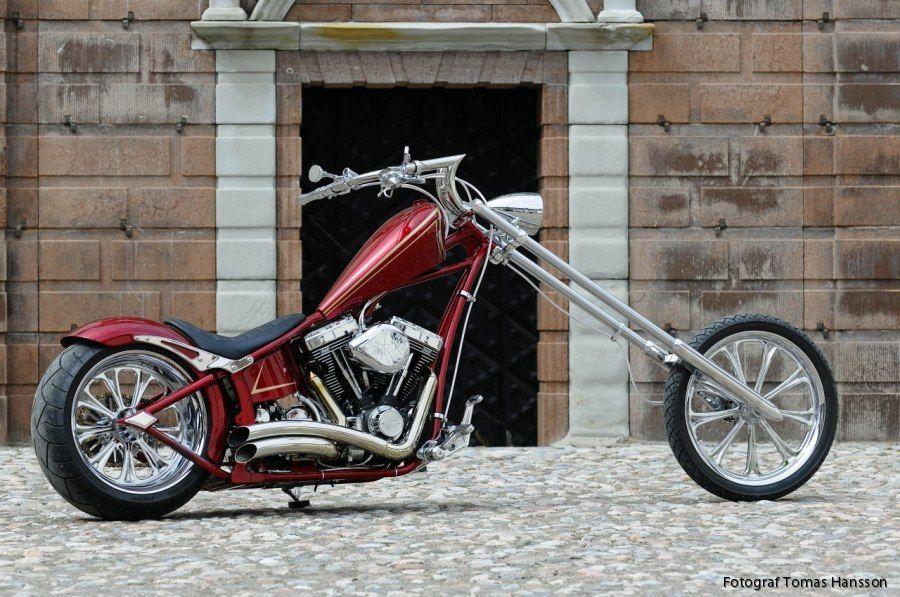 vicious cycle works vampire handlebars - custom harley motorcycle