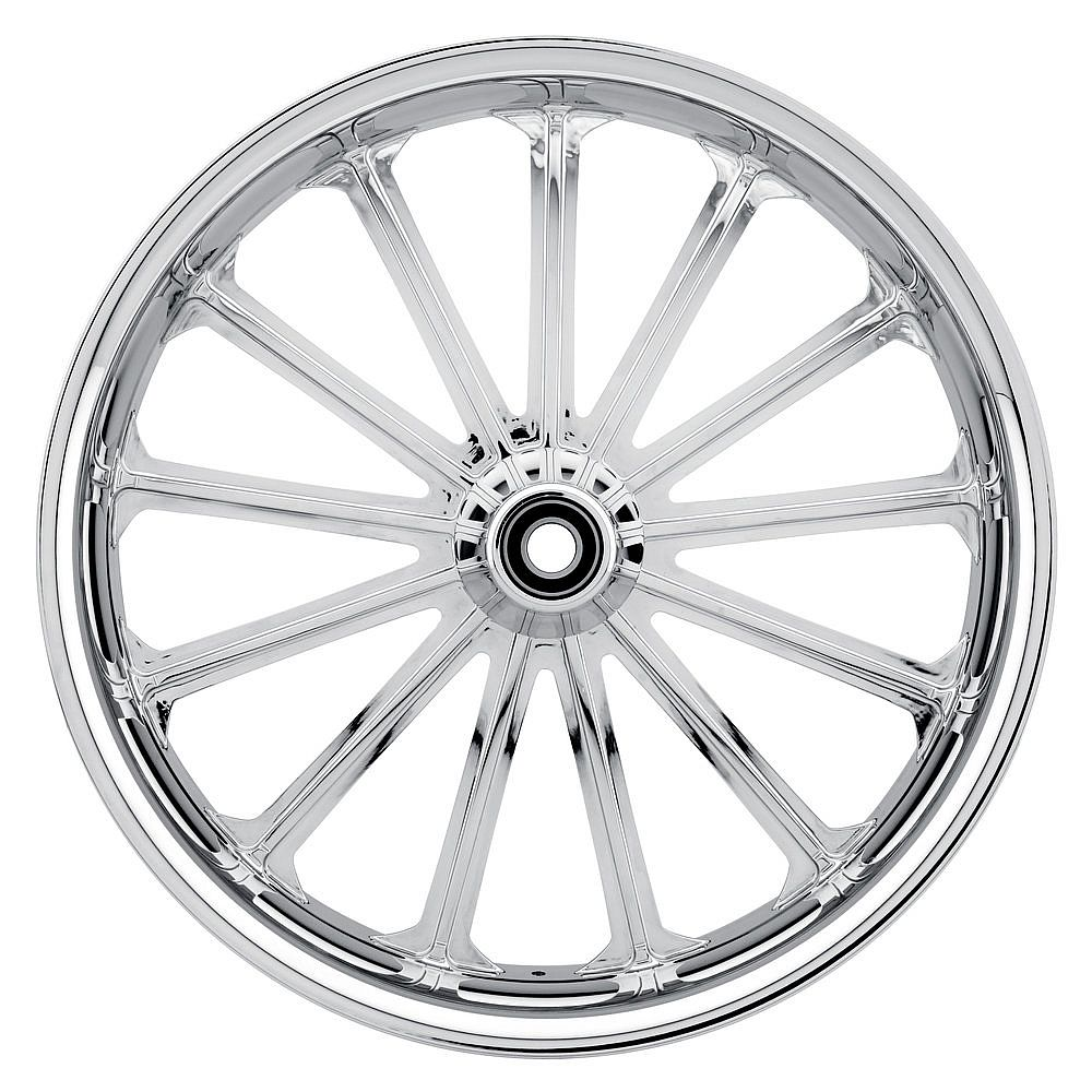 HARLEY DAVIDSON MOTORCYCLE  CHROME UNLUCKY 13 WHEEL BY JADE