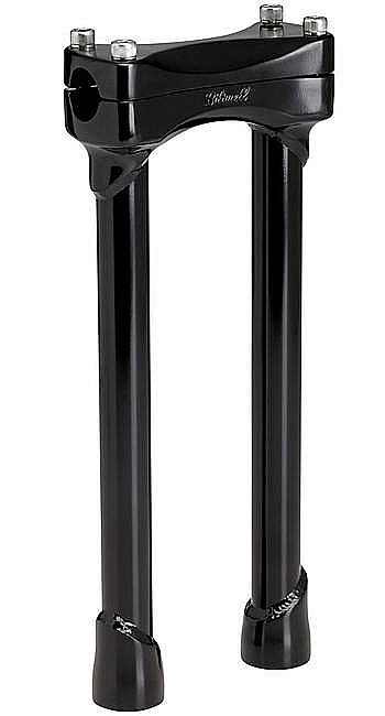 BLACK 12 INCH TALL MOTORCYCLE RISERS