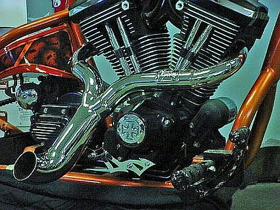 CUSTOM HARLEY EXHAUSTS CYCLOPS RSD OR LSD Applicatins Available For  SOFTAIL 84-PRESENT,  Baggers, F