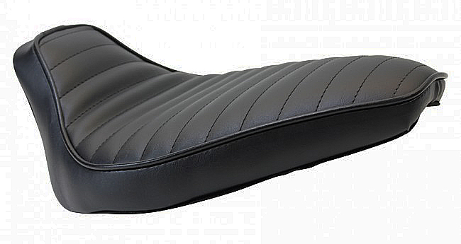 MOTORCYCLE SEATS Hardtail Rigid Mount Solo Seat Black PLEATED