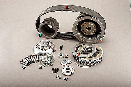 BDL OPEN 3 INCH BELTDRIVES —Drive Kit for EV-76-47T Kit's fits 1936-1954 Knucklehead/Panhead tapered