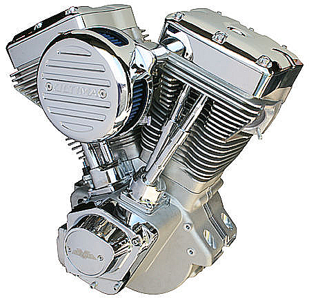 Ultima El Bruto Complete 113ci Cast Finish Motor for Harley Big Twin 1984-1999