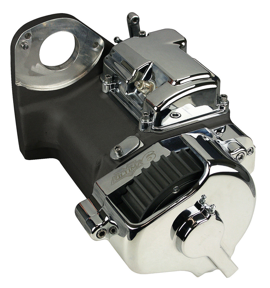 Ultima Black 6 Speed Right Side Drive Transmission For Harley 2 4 Twin Cam Engine And Trans Bolts Diagram Custom Hydraulic Type