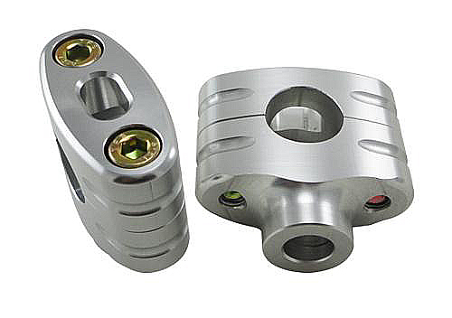 CHROME 7/8 Inch Handlebar Clamps