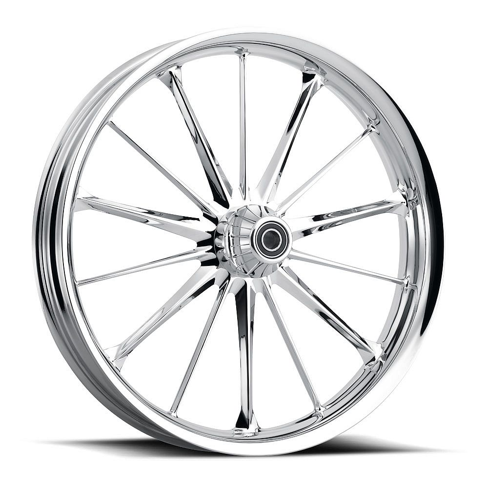 HARLEY DAVIDSON MOTORCYCLE  CHROME SPINDLE WHEEL BY JADE