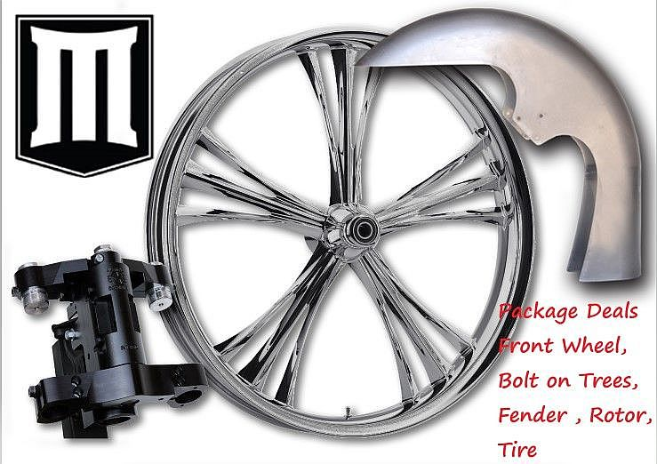 30 INCH HARLEY FRONT WHEEL PACKAGE DEAL