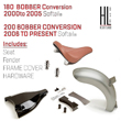 180 / 200 Bobber Conversion Fits Softail® 2000 to 2017