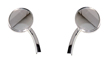 CHROME MOTORCYCLE MIRRORS FOR HARLEY , CUSTOMS, VINTAGE CLASSICS ONE PAIR CHROME