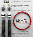 AR-­70/41S Fork Tube Air Ride Kit for 2000-2013 Harley Davidson Bagger