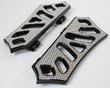 HARLEY BAGGER BOARDS BLACK / CHROME INSERTS 99 TO CURRENT USA MADE