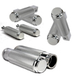 Big Dog Grips, Foot Pegs, Passenger Pegs, Toe Pegs Combo Polished Aluminum USA MADE