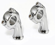 KUSTOM TECH CHROME FORGED 1 INCH HARLEY MOTORCYCLE RISERS