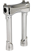 CHROME 8 INCH TALL MOTORCYCLE RISERS
