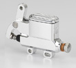 "KUSTOM TECH DELUXE WIRE OPERATOR MASTER CYLINDER 14mm (9/16"") BORE ALUMINUM (polish)"