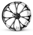 3D CUSTOM MOTORCYCLE WHEELS FOR HARLEYS AND CUSTOMS THE VIRTUE WHEEL