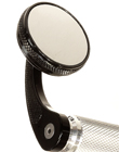 MOTORCYCLE BAR END CAFE STYLE BLACK ROUND MIRROR