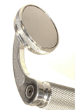 MOTORCYCLE BAR END CAFE STYLE CHROMED  ROUND MIRROR