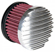 HARLEY Finned Polished Air Cleaner HD CV Carbs & EFI
