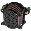 HARLEY AIR CLEANERS Fits 2000-up Softail and Dyna, and 1991-up Sportster .OMEGA TECH  BLACK