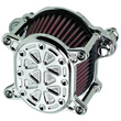 HARLEY AIR CLEANERS Fits 2000-up Softail and Dyna, and 1991-up Sportster .OMEGA TECH CHROME