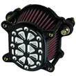 HARLEY AIR CLEANERS Fits 2000-up Softail and Dyna, and 1991-up Sportster .OMEGA TECH CONTRAST BLACK
