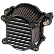HARLEY AIR CLEANERS , Fits 2000-up Softail and Dyna, and 1991-up Sportster CONTRAST CUT BLACK