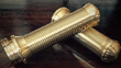 HARLEY OR CUSTOMS/ BRASS GRIPS DUAL CABLE / EURO DESIGN IMPORTED BY VCW ONLY