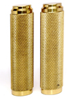 BRASS HARLEY GRIPS FOR INTERNAL THROTTLE, BOBBERS,USA MADE