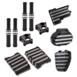 HARLEY DRESS UP COVERS KITS ENGINE & TRANSMISSION, PUSH ROD  COVERS BLACK