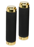 HARLEY GRIPS BRASS WITH RUBBER INTERNAL THROTTLE FOR CUSTOMS CHOPPERS BOBBERS AND CLASSICS