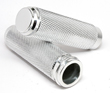 HARLEY GRIPS THROTTLE BY WIRE TBW CHROME DIAMOND KNURLED