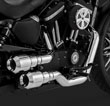 HARLEY SPORSTER CUSTOM EXHAUSTS CHROME STAGGERED VANCE AND HINES