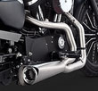 SPORTSTER HARLEY CHROME EXHAUSTS 2 NTO 1 2014 TO 2018