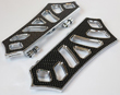 HARLEY BAGGER BOARDS CHROME /BLACK INSERTS 99 TO CURRENT USA MADE
