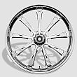 3D USA MADE CUSTOM HARLEY WHEELS THE CHROME LAREDO  WHEEL