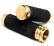 HARLEY TBW BRASS MOTORCYCLE GRIPS WITH RUBBER GRIPS USA MADE GRIPS USA MADE