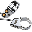 41mm Dual Snake Eye Fork Mount Turn Signals Chrome (pair)