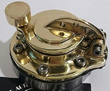 "CUSTOM BRASS HINGED GASCAP FOR CUSTOMS, CAFE RACER OR BOBBER , HOT RODS  ""OLD SCHOOL STYLE"""