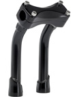 PULLBACK BLACK 8  INCH MOTORCYCLE RISERS