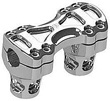 MOTORCYCLE RISERS CHROME METHOD RISERS 2.5 INCH TALL FOR 1 INCH MOUNTING