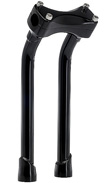 PULLBACK BLACK 12  INCH MOTORCYCLE RISERS